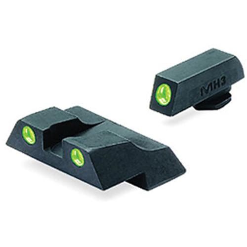 MEPROLIGHT LTD Tru-Dot Tritium Night Sight Set for Glock G26 / G27 (Green / Green)