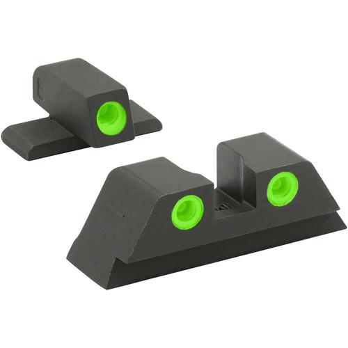 MEPROLIGHT LTD Fixed Self-Illuminated Tru-Dot Night Sight for Bersa BP 9 (Green)