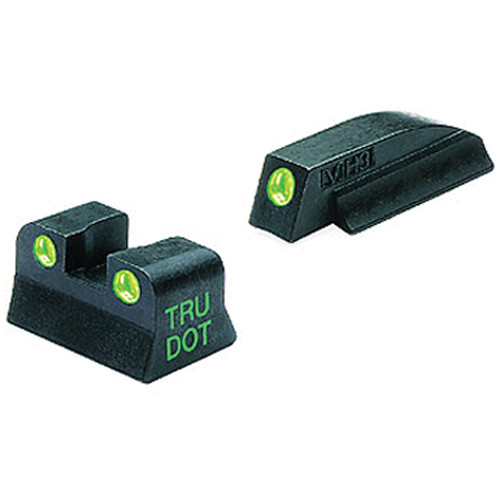 MEPROLIGHT LTD Tru-Dot Tritium Night Sight Set for Beretta M9 and 92 (Green / Green)