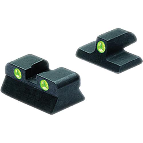 MEPROLIGHT LTD Tru-Dot Tritium Night Sight for Browning Hi-Power MkIII (Set - Green/Green)