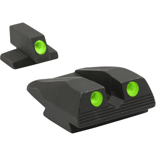MEPROLIGHT LTD Fixed Self Illuminated Night Sights for FNX 9mm/40/45 (Green/Green)