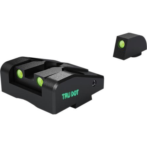 MEPROLIGHT LTD Ad-Com Adjustable Tritium Night Sight for Glock G26 & G27 Pistols (Front & Rear Set - Green)