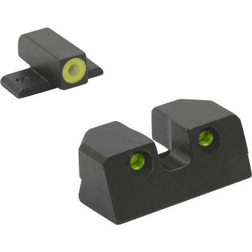MEPROLIGHT LTD HVS Sights for Sig Sauer 9mm/.357 P226 (Yellow Front, Green Rear)