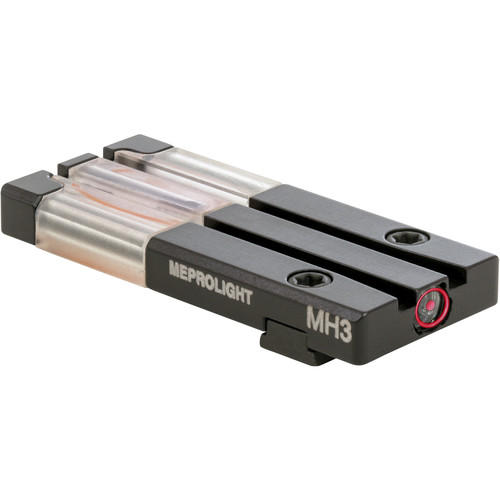 MEPROLIGHT LTD Fiber Optic/Tritium Bull's-Eye Rear Pistol Sight for Glock 43 (Red)