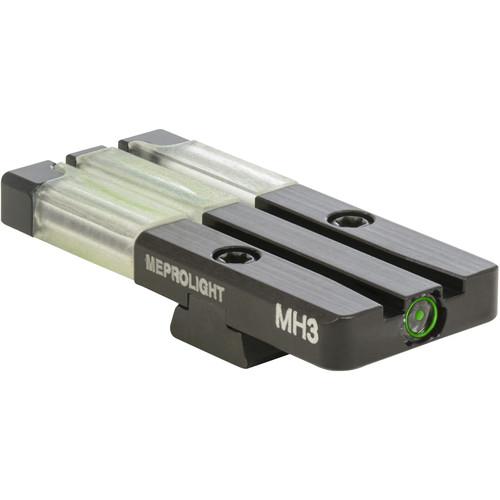 MEPROLIGHT LTD Fiber Optic/Tritium Bull's-Eye Rear Pistol Sight for CZ 75 / 85 (Green)