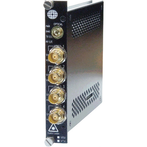 Meridian Technologies SR-4HG-51/57FC 4-Channel Multi-Rate SDI/HD-SDI/3G Video Receiver