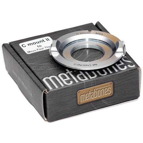 Metabones C-Mount Lens to Micro Four Thirds Camera Lens Adapter (Chrome)