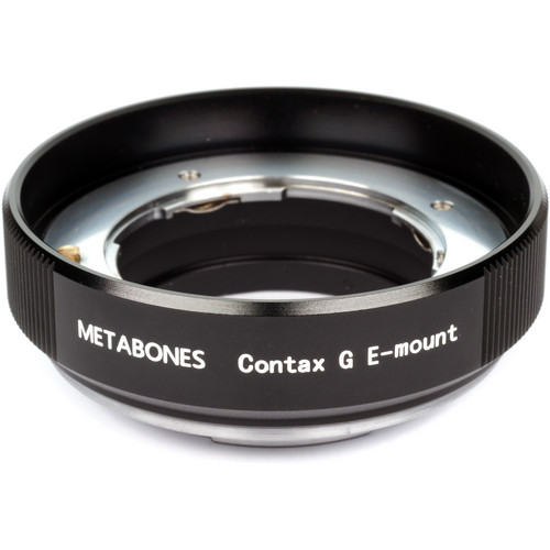 Metabones Contax G Mount Lens to Sony NEX Camera Lens Mount Adapter (Black)