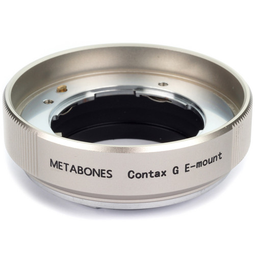 Metabones Contax G Mount Lens to Sony NEX Camera Lens Mount Adapter (Champagne)