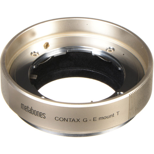 Metabones Contax G Lens to Sony E-Mount Camera T Adapter (Gold)