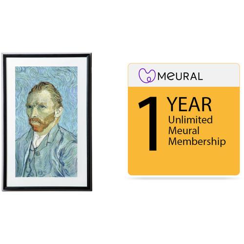 Meural Leonora Digital Art Canvas (Black) with 1-Year Unlimited Art Library Membership