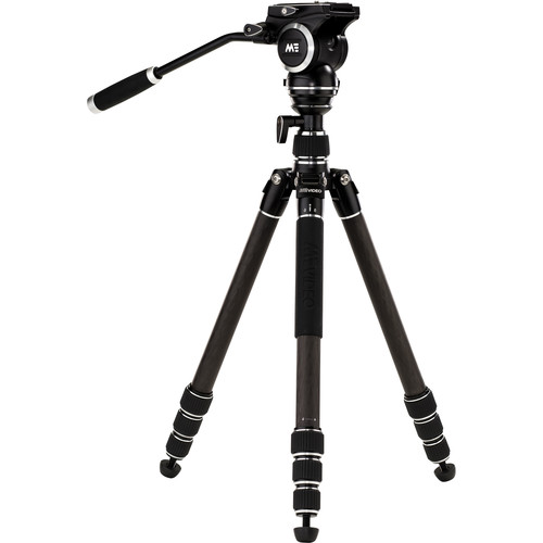 MeVIDEO GlobeTrotter Video Travel Tripod Kit (Carbon Fiber, Black)