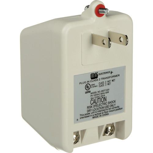 MG Electronics MGT-1220 12VAC 20VA Class II Power Supply