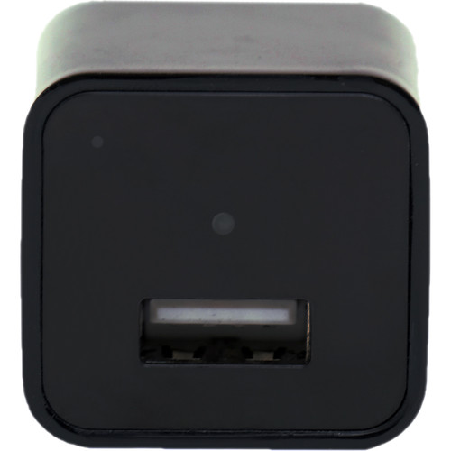 Mini Gadgets USB Power Adapter with 1080p Covert Camera (Black)