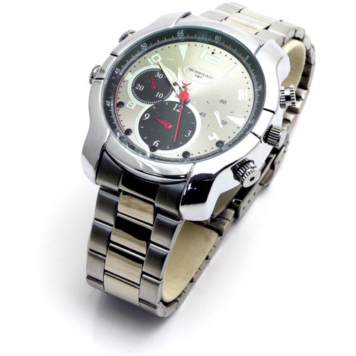 Mini Gadgets Water-Resistant Watch with 1080p Covert Camera and Night Vision
