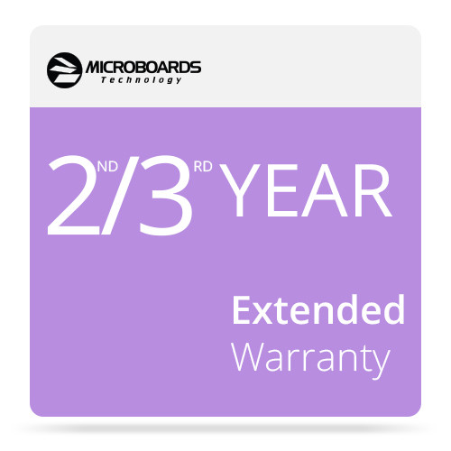 Microboards 2ND/3RD Year Extended Warranty for G4 Disc Publisher