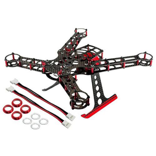 MICROHELI Red CNC Aluminum/Carbon Fiber Frame Kit for Blade 200 QX Quadcopter