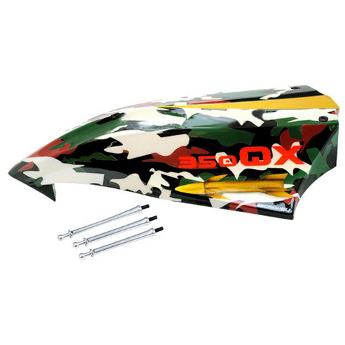 MICROHELI Airbrush Fiberglass Canopy for MH Quadcopter Kit (Camouflage)