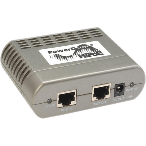 Microsemi PowerDsine PD-AS-701 2-Pair HiPoE Active Splitter (12V)