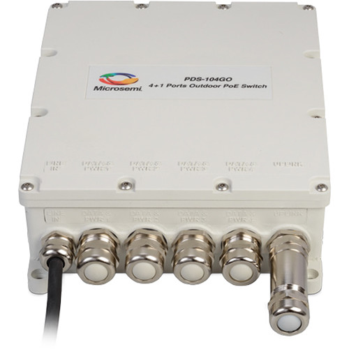 Microsemi 4+1 Outdoor Managed PoE Switch with AC