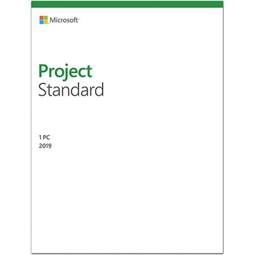 Microsoft Project Standard 2019 (1-User License, Boxed Product Key)
