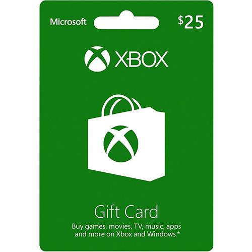 Microsoft Xbox Live $25 Gift Card