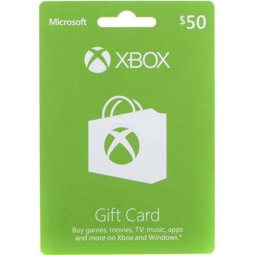 Microsoft Xbox Live $50 Gift Card