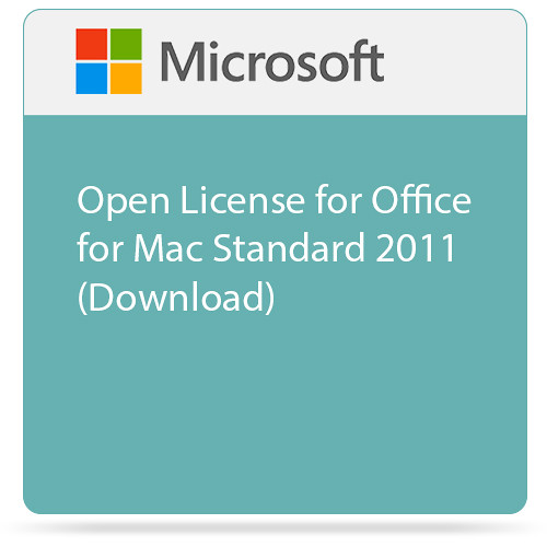 Microsoft Open License for Office for Mac Standard 2011 (Download)