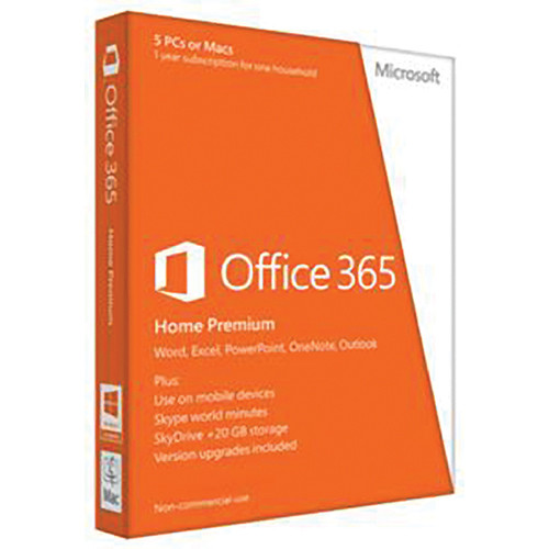 Microsoft Office 365 Home Premium (5 PC or Mac Licenses)