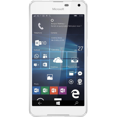 Microsoft Lumia 650 RM-1154 16GB Dual-SIM Smartphone (Unlocked, White)