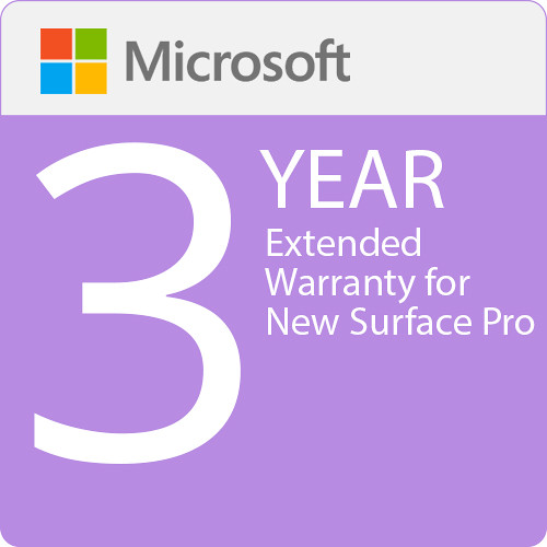 Microsoft 3 Year Extended Warranty For New Surface Pro