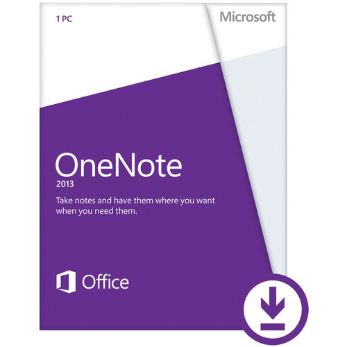 Microsoft OneNote 2013 Software (Electronic Download)