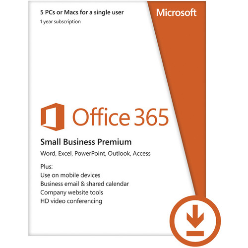 Microsoft Office 365 Small Business (Windows/Mac Compatible, Electronic Download)