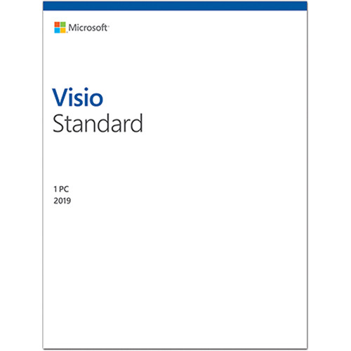 Microsoft Visio Standard 2019 (1-User License, Product Key Code)
