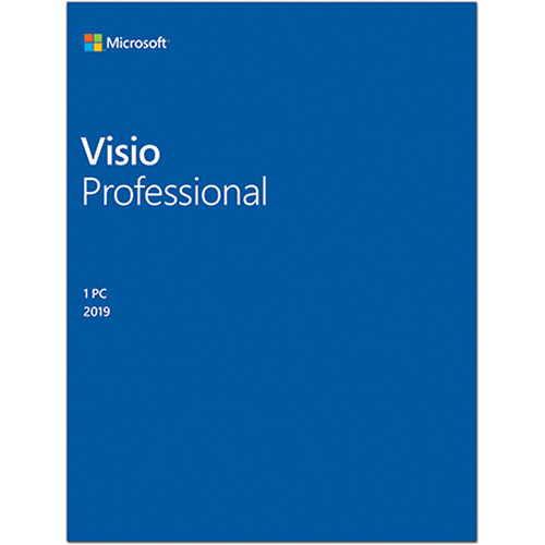 Microsoft Visio Professional 2019 (1-User License, Media-Less Product Key Code)