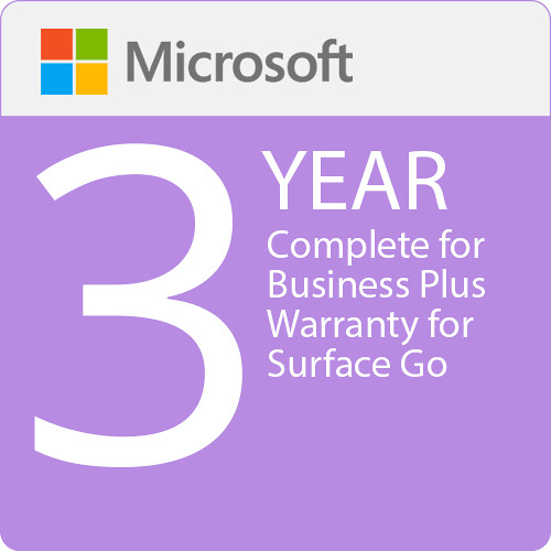Microsoft Complete For Business Plus  3 Year Warranty For Surface Go