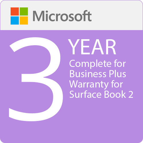 Microsoft Complete For Business Plus  3 Year Warranty For Surface Book 2