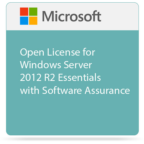 Microsoft Open License for Windows Server 2012 R2 Essentials with Software Assurance