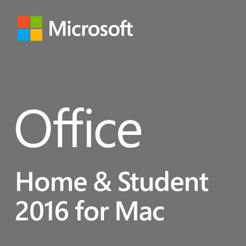 Microsoft Office Home & Student 2016 for Mac (1-User License / Product Key Code / Boxed)