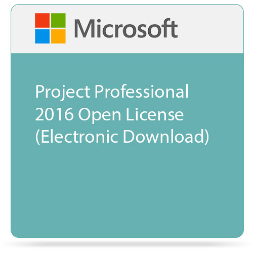 Microsoft Project Professional 2016 Open License (Electronic Download)