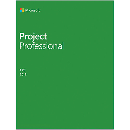 Microsoft Project Professional 2019 (1-User License, Boxed Product Key)