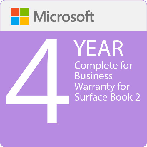 Microsoft Complete For Business 4 Year Warranty For Surface Book  2