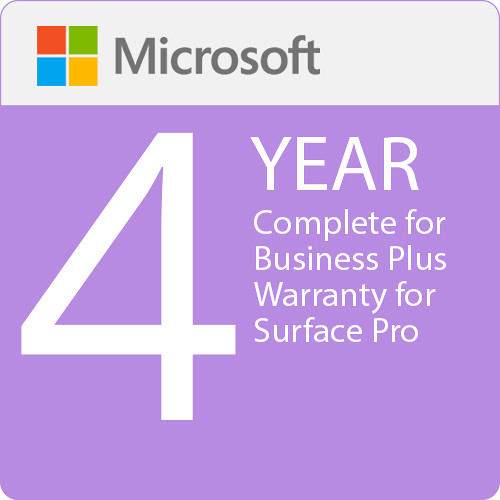 Microsoft Complete For Business Plus  4 Year Warranty For Surface Pro