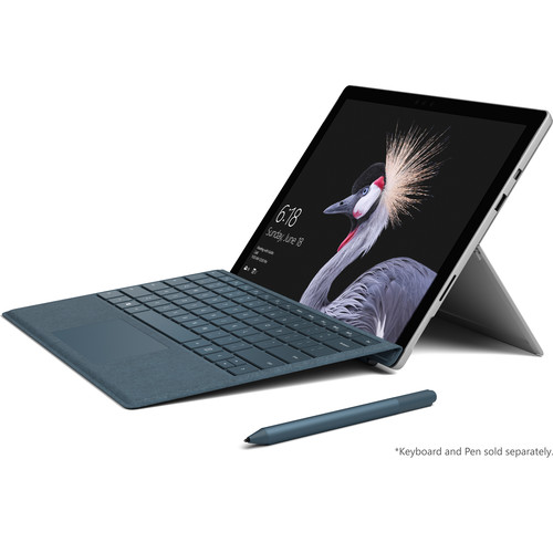 """Microsoft Surface Pro 12.3"""" 128GB Multi-Touch Tablet (2017, Wi-Fi Only, Silver)"""