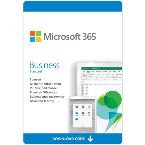Microsoft 365 Business Standard (1-User License / 12-Month Subscription / Download)
