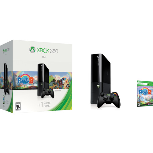Microsoft Xbox 360 4GB Gaming Console & Peggle 2 Bundle