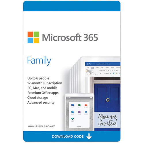 Microsoft Microsoft Office 365 Home Premium 2016 Kit (5 PC or Mac Licenses / 1-Year / Download)