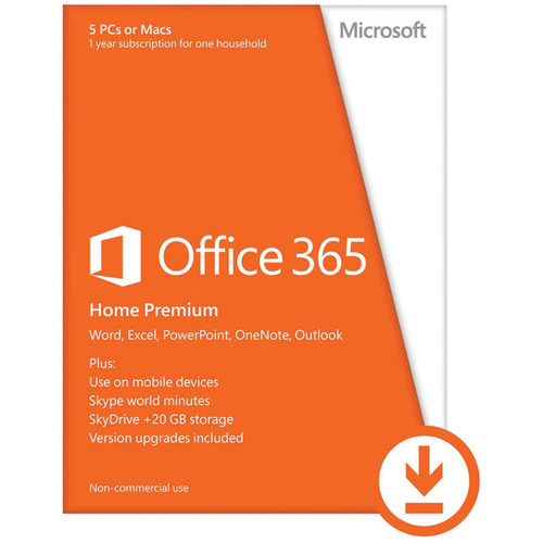 Microsoft Office 365 Home Premium 2013 Kit (5 PC or Mac Licenses / 1-Year / Download)