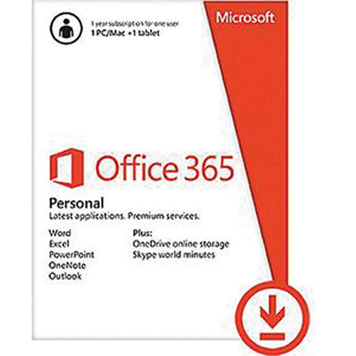 Microsoft Office 365 Personal Kit (1 PC or Mac License / 1-Year / Product Key Code)