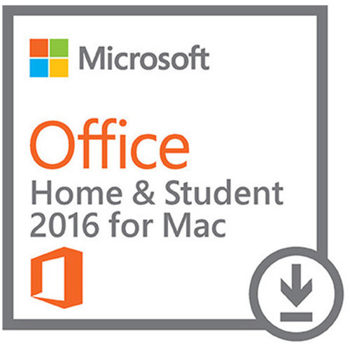 Microsoft Office Home & Student 2016 for Mac Kit (1-User License, Download)